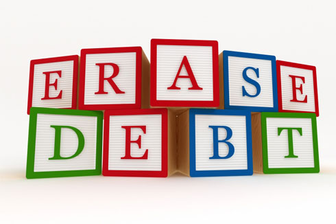 erase unsecured debt with a settlement program