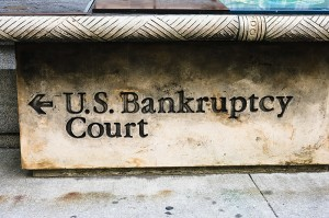 Sign pointing to US Bankruptcy Court