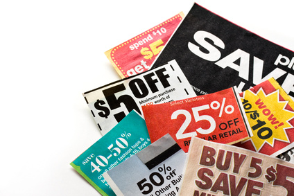 being frugal clipping coupons