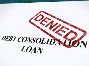 Debt Consolidation Loan Denied