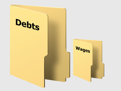 high debts low wages