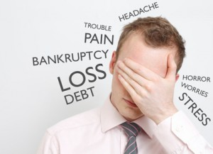 too much debt causes problems