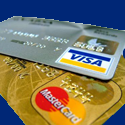 ViSA and Mastercard one on top of the other