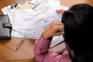 Stress over credit card's bill