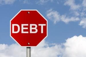 debt stop sign