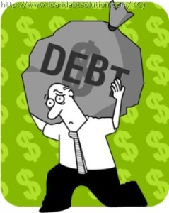 man carrying debt