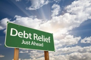 debt relief sign