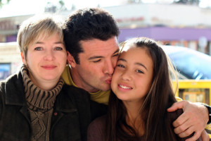family with young daughter