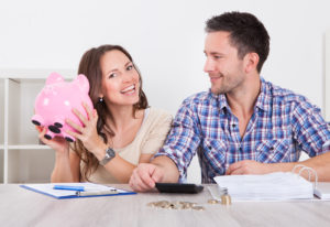 young couple start saving money
